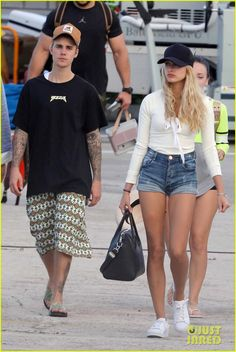 Justin Bieber Leaves St. Barts with Hailey Baldwin By His Side