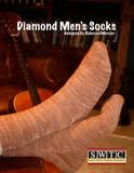 """""""Diamond Men's Socks"""" - another design for my FAVE yarn company, SWTC! These, of course, were designed for my honey, Lonnie. The design can be found on the SWTC website @ www.soysilk.com or www.ravelry.com or follow the link from my blog. Lonnie LOVES this design!"""