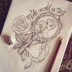 Beauty and the beast design | Tattoo ideas. | Pinterest | Disney ...