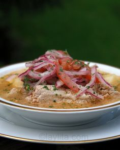 Encebollado – Ecuadorian fish soup with lime pickled onions