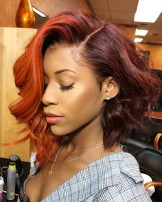 Fall Hair Color Trends for Brunettes - Health Weave Hairstyles, Cool Hairstyles, Black Hairstyles, Hairstyles Pictures, Formal Hairstyles, Wedding Hairstyles, Curly Hair Styles, Natural Hair Styles, Short Straight Hair