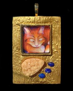 Honeycat Freya's Cat Goddess Pendant by ArtsofAvalonJewelry, $50.00