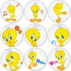"TWITTY BIRD 1.75"" Badges Pinbacks, Mirror, Magnet, Bottle Opener Keychain http://www.amazon.com/gp/product/B00C31X448"