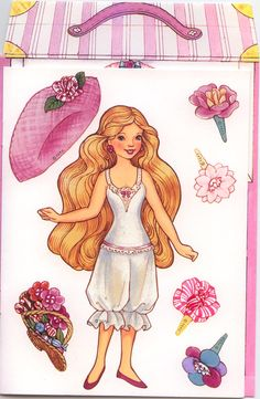 """This will be a combined post tonight. It is a large one and covers both categories of Greeting Cards and Paper dolls. """"Paper Doll Fun with Peppermint Rose"""" This the front of the card. …"""