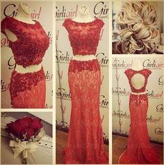 red mermaid prom dresses, lace prom dress, unique prom dresses, sexy prom dresses, 2015 prom dresses, popular prom dresses, dresses for prom, CM416