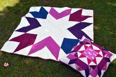 gemini stitches: Pantone challenge: Berry Orchid quilt