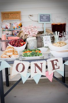 Designs by Kimberly Francom and Associates: Twin Cookies and Milk First Birthday Party. Chalkboard sign: place empties here for milk man in vintage crate.
