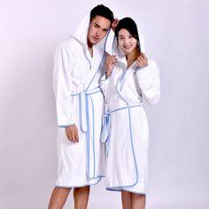 MMY Luxury Cotton Terry Spa/Bath Robe Solid Bathrobe Lightwear Dressing Gown New #MMY #Bathrobe