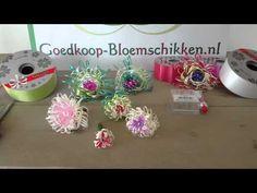Rozen, bloemen maken van lint met Goedkoop-bloemschikken.nl