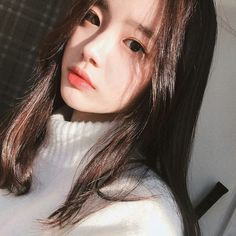 Image about girl in ulzzang by Megumi on We Heart It Ulzzang Korean Girl, Cute Korean Girl, Cute Asian Girls, Beautiful Asian Girls, Korean Ootd, Pretty Korean Girls, Korean Beauty, Asian Beauty, Selfie