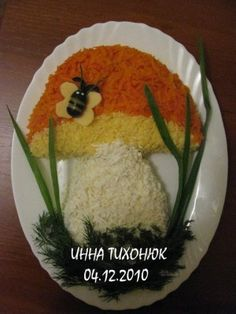 Mushroom salad decoration