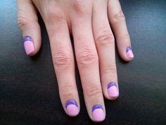 Purple-pink nails #nailpolish #nailart