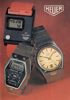 Draplin Design Co. Retro Watches, Big Watches, Vintage Watches, Cool Watches, Wrist Watches, Mens Watches For Sale, Luxury Watches For Men, Tag Heuer Glasses, Rolex