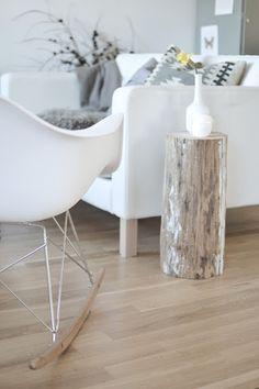 Log side table