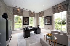 Property for sale - North Drive, Virginia Water, Surrey, Home Office Uk, Home Office Design, 2 Bed House, Luxury Interior, Interior Design, Two Bedroom Suites, Million Dollar Homes, Indoor Swimming Pools, Mansions For Sale