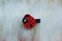 Felt Lady Hair Clip Baby / Toddler / Girl Lady by EllieBowsnBands, $4.00,  #hairclips #ladybug #partyfavors #toddlers #babygift #hairaccessories