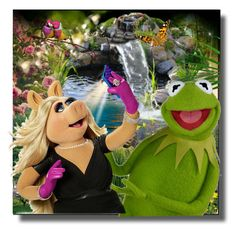 Kermit the Frog and Miss Piggy by jroy1267 on Polyvore featuring couples For me Polyvore is all about fun and having a creative outlet so I created a new group that is dedicated to supporting each other and playing fair with contests (when we get big enough)!  Please come join the journey at Seek 2B Unique!    https://www.polyvore.com/cgi/group.show?id=217791