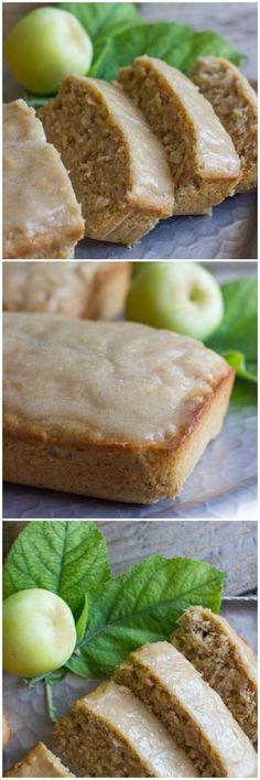 Glazed Apple Cinnamon Oatmeal Bread | apple desserts