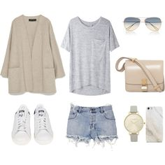Comfy Summerstyle by fashionlandscape on Polyvore featuring Mode, rag & bone/JEAN, Zara, Ksubi, adidas, Olivia Burton, Isabel Marant, Samsung and CÉLINE