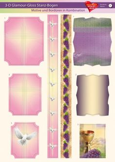 3-D GlamourGloss Bogen, kirchliche Motive, Din A4, Motiv 4