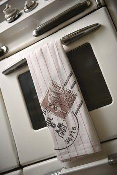 1969 Hawaiian Postmark Cotton Dish Towel