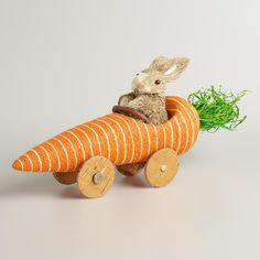 Hop into our Egg-Citing Easter collection and check out our Natural Fiber Bunny in a Carrot Car from Cost Plus World Market. >> #WorldMarket #Easter #EasterStyleHuntSweeps