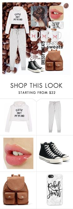 """comfy with coffee (+_+)"" by natalie-ava-white ❤ liked on Polyvore featuring Zoe Karssen, Converse, Coach, Casetify and iDecoz"