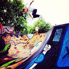 "@Flip Skateboards's photo: ""Nordberg taking flight near the Red Light district.  Photo: @zack shusterman  #tbt #amsterdam"""