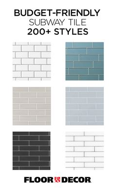 Budget-friendly subway tile in different colors and sizes from Floor & Decor - Home Page Subway Tile Colors, Color Tile, White Subway Tiles, Kitchen Redo, Kitchen Design, Kitchen Backsplash, Subway Tile In Kitchen, Kitchen Ideas, 1960s Kitchen