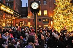 The Christmas tree at Lowe's Toronto Christmas Market in the Distillery District.