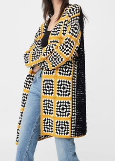 Crochet clothes for women pattern beautiful 70 Ideas for 2019 Cardigan Au Crochet, Gilet Crochet, Cardigan En Maille, Crochet Coat, Crochet Jacket, Cardigan Pattern, Crochet Clothes, Beau Crochet, Mode Crochet