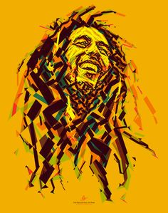 Positive vibration (A reggae portrait) (by tsevis) Portrait of Bob Marley for the Reggae Hall of Fame foundation. This poster is donated to ...