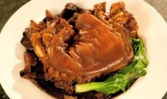 Slow-cooked pork leg with thick, salty sauce makes this dish a lunch or dinner attraction. The juxtaposition of sweet and sour is to the point and the pork meat is tender. One of the best Filipino Recipes, Asian Recipes, Filipino Food, Pork Recipes, Cooking Recipes, Chicken Pork Recipe, Philippine Cuisine, Pork Leg, Slow Cooked Pork