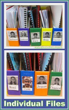Individual Student Bins for Classroom Organization