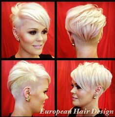 Ideas Hair Pink Blonde Pixie Cuts For 2020 Funky Short Hair, Short Pixie, Short Hair Cuts, Short Hair Styles, Short Funky Hairstyles, Men's Hairstyles, Formal Hairstyles, Asymmetrical Pixie Cuts, Shaved Hairstyles