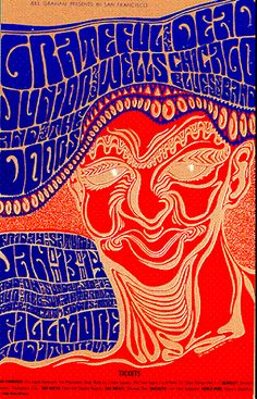The Grateful Dead .. .... The Doors .......Junior Wells ... at the Fillmore, January 1967 .. artist ..... WES WILSON