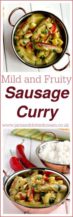 Mild and Fruity Sausage Curry