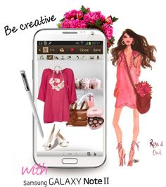 """""""Be creative with Samsung GALAXY Note II!"""" by nicole77af ❤ liked on Polyvore"""