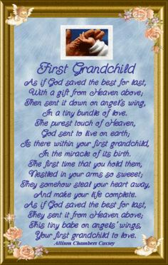 first grandchild poem | News from Mommy...
