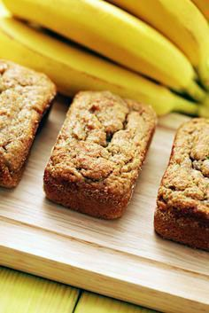 GUTSY'S COCONUT-FLOUR BANANA BREAD: Coconut flour is a great alternative for those looking for gluten-free and/or grain-free recipes. You can't just substitute it into any recipe though because it soaks up moisture like a sponge. Instead you need a rec Gluten Free Baking, Gluten Free Desserts, Gluten Free Recipes, Low Carb Recipes, Healthy Recipes, Coconut Recipes, Real Food Recipes, Cooking Recipes, Meal Recipes