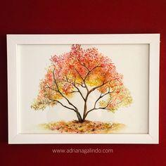 Persimmon tree, n.21, watercolor / 40treesproject Caquizeiro, árvore 21, aquarela 21 x 30 cm adrianagalindo / caqui / natureza / nature / outono / autunm drigalindo1@gmail... Adriana Galindo