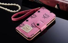 Mode Creation Munich Galaxy S7 MCM Wallet Cover Flip Pink