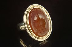 """Now up on the site...a Georgian signet ring. """"I'll Defend"""" with a crown. Full details & price at CJAntiquesLtd.com #antique #georgian #signetring #ring #showmeyourrings"""