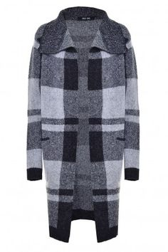 Zabel L/S Check Cardigan Next Day, Winter Warmers, Knitwear, Crew Neck, Turtle Neck, Valentines, Park, Check, Sweaters
