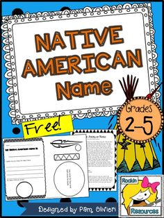 Free!  Create a Native American name and symbol!  Super cute.  Even comes with a text suggestion and a blurb to read to your class!