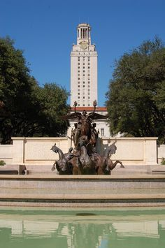 """This is the Littlefield fountain in front of the University I graduated from  When we were little my sister called it  """"The Horseys takin a bath"""" and we went there after church on Sundays"""