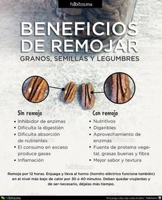 BENEFICIOS DE REMOJAR GRANOS, SEMILLAS Y LEGUMBRES