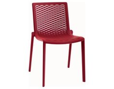 Resol Net Kat Recycled Plastic Red Side Chair | 30589