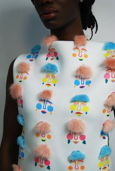 A collection of fun high-end embroidery samples and prints in response to my series of colourful playful illustrations. Involves beading, fur applique and hand embroidery Fashion Details, Look Fashion, Diy Fashion, Origami Fashion, Trendy Fashion, Couture Details, Fashion Hacks, Pop Art Fashion, Fashion 2020