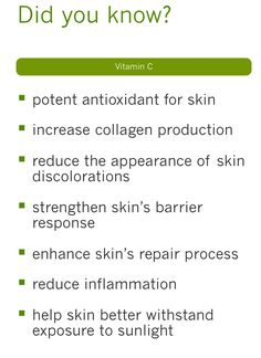Chemical Peels work very similarly to microdermabrasions. However, instead of removing the top layer of skin mechanically, a chemical solution, usually containing acid, is applied to the skin to peel of the dead layer of skin. Vitamin C has long been recognized as a powerful skin enhancer. It is used in many anti-aging and face clearing products. Our Vitamin C also penetrates deep into skin to help restore collagen production and elasticity.